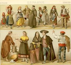 Traditional Spanish Fashion | Traditional Dress: Spain « History of Fashion Design History of ...