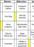 Plantilla: Calendario de contenidos y tareas para gestionar una marca en Facebook