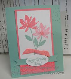 Stampin' Up! - This is such pretty spring card, using the 2 Sale-a-brations set- 'Avant Garden' & 'Delicate Details'!!!!