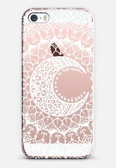 White Moon Mandala iPhone SE case by Jess Melaragni | Casetify
