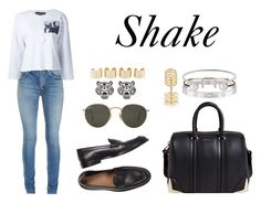 """Shake"" by anaelle2 ❤ liked on Polyvore featuring Yves Saint Laurent, Givenchy, Enfants Riches Déprimés, Ray-Ban, Cartier, Letters By Zoe, Humble Chic, Repossi, Kenzo and Maison Margiela"