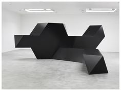 etceterablog:  Tony SmithSource, 1967 Steel, painted black 132 x 354 x 408 inches; 335 x 899 x 1036cm
