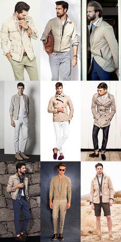 Men's Nude Tone Outerwear & Lightweight Jackets - Spring/Summer 2014 Outfit Inspiration Lookbook