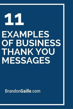 11 Examples of Business Thank You Messages Spending some time to send a thank you note to your employees and customers can help to bridge and deepen current relationships and ties to your organization. Employees that feel appreciated are known to be Best Thank You Notes, Customer Thank You Note, Thank You For Service, Thank You Note Wording, Business Thank You Notes, Thank You Customers, Thank You Letter, Best Thank You Message, Thank You Card Examples