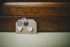 """Cute Porcelain heart stud earrings """"sweet nothings"""" £18"""