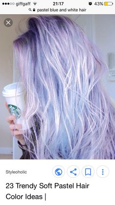 Lilac and white