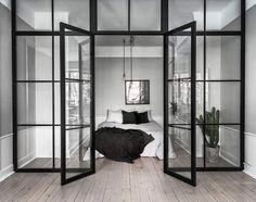 The perfect place to spend a rainy Sunday! @scandinavianhomes @kronfoto #Bedroom #InteriorDesign #ScandinavianDesign #ScandinavianHomes by studioarrc