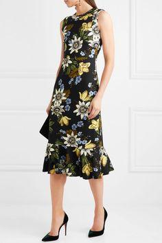 Erdem | Grazia floral-print stretch-ponte dress | NET-A-PORTER.COM