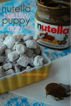 Nutella marshmallow puppy chow