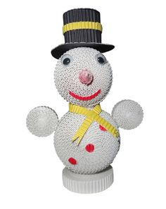Snowman with Black Bowler Hat
