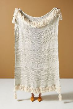 Woven Marley Throw Blanket by Anthropologie in White, Throws White Throw Blanket, Throw Blankets, Roman Clock, Anthropologie, White Duvet, Crochet Home Decor, Bold Stripes, Bed Throws, Hygge