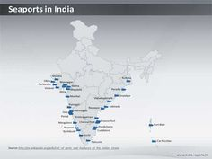 Find information about the major seaports in India on this downloadable PPT map