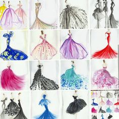 No photo description available. Epic Drawings, Colorful Drawings, Cute Fashion, Fashion Art, Pretty Girl Drawing, Dress Design Drawing, Disney Princess Fashion, Fashion Illustration Dresses, Dress Sketches