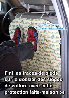 Make your own DIY Car Seat Protector to keep the back of your seats clean and footprint-free! Check the car seat protector free sewing tutorial. Easy Sewing Projects, Sewing Projects For Beginners, Sewing Hacks, Diy Projects, Sewing Tips, Free Sewing, Sewing Ideas, Seat Cleaner, Pet Products