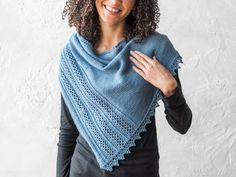 Lineau Lace Shawl Knitting Kit | Craftsy