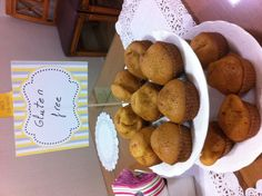 Gluten free magdalenes for afternoon tea party