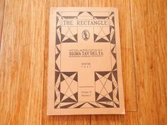1941 SIGMA TAU DELTA The Rectangle Honorary English Society 80 pages Booklet