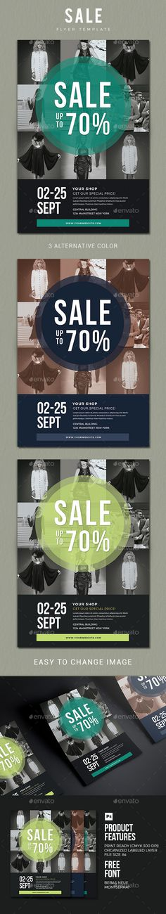 Sale Flyer 02 by vynetta Sale Flyer 02 FEATURES3 Psd file A4 Size 8.2711.69 bleed Well Organized Layer Print Ready CMYK 300 DPI Editable Text, image, font,
