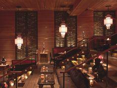 Tao Downtown New York Restaurant & Loundge by Rockwell Group - Dark Restaurant, Luxury Restaurant, Restaurant New York, Restaurant Design, Oriental Restaurant, Chinese Restaurant, Lounge Bar, Rockwell Group, Downtown New York