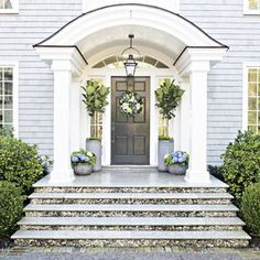 Your front door sets the tone for you home. Here are some great tips to make a dramatic statement with your front entrance.