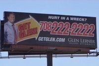 Photo of #GlenLerner Injury Attorneys' #Chicago billboard via dreamtown.   glenlernerchicago.com