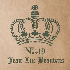 Jean Luc Beauvais Vintage Stencil for por JboutiqueStencils en Etsy