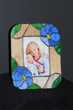 Handmade Stain Glass Flower Frame for 3 1/2 by Purpose4Everything, $17.50
