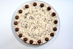 the best chocolate peanut butter mousse pie in the world. I promise you will love it.