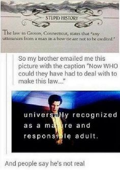 Doctor Who referred to in Connecticut Law
