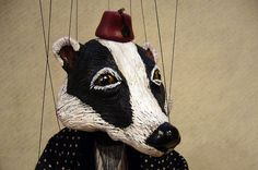 Badger Marionette Wind in the Willows by Susan Taaffe
