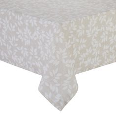 BuyJohn Lewis Trailing Leaves Wipe Clean Tablecloth, Neutral, L180 x W140cm Online at johnlewis.com