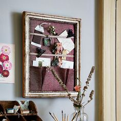 Discover how to make this smart pocketed wall organiser following Country Homes and Interiors magazine's simple steps