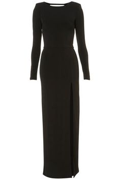 Shoulder Pad Maxi Dress