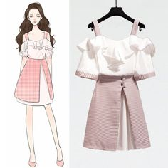 Cute Casual Outfits, Pretty Outfits, Pretty Dresses, Stylish Outfits, Fashion Drawing Dresses, Fashion Illustration Dresses, Fashion Dresses, Kawaii Fashion, Cute Fashion