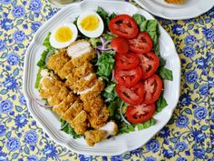 A Beautiful Mess: Fried Chicken Salad with Honey-Mustard Vinaigrette (Healthified!)