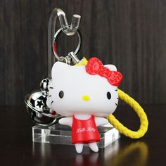 >> Click to Buy << Lovely Hello Kitty Key Chain Tinkle Bell Catoon Handbags Accessories Car Key Chains Keyring Bag Pendants For Kids And Girls Gift #Affiliate