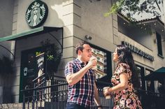Pre-Wedding Juliana e José Eduardo #starbucks