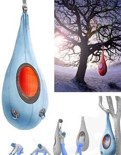 Hanging Cocoon For Emergency Outdoor Survival - OhGizmo! !