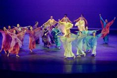 "A performance of eurythmy, the ""art of expressive movement"" developed by Steiner and taught in all Waldorf schools."