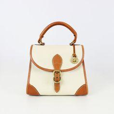 Vintage sac DOONEY & BURKE / dooney et burke tous sacoche météo / sac en cuir OS de galets / haut classique poignée sac