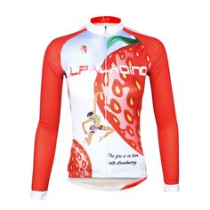 11edd1850de ILPALADINO Fruit Food Strawberry Red Women s Long Sleeves Cycling Jersey  Spring Autumn Summer Outdoor Sports Gear Leisure Biking T-shirt NO.735
