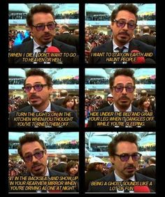 He has his priorities straight: | 32 Reasons Robert Downey Jr. Is The Most Perfect Man In The Universe