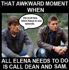 I have often wondered what would happen if Sam and Dean showed up in Mystic Falls.