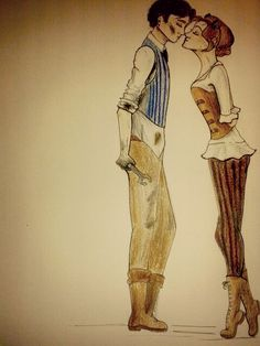 My Steampunk pair :3 Charlie+Uriah...