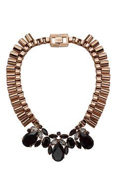 Mawi Teardrop Crystal & Tube Necklace