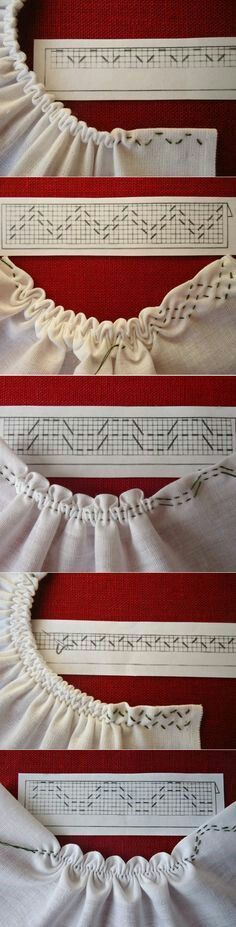 Sewing tutorials clothes dress costura ideas for 2019 Sewing Stitches, Embroidery Stitches, Hand Embroidery, Crochet Stitches, Thread Crochet, Techniques Couture, Sewing Techniques, Makeup Techniques, Smocking Patterns