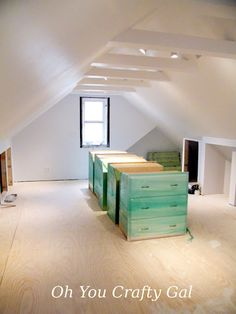 Our attic Sewing/ craft room is finally done! : Let the decorating begin Ta da! Our attic renovations are finally done.