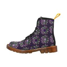 Flower Skulls Martin Boots For Women Model 1203H