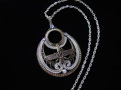 Rose gold Farvahar Necklace Iran Persian Empire Symbol Art Iranian Persian Gift