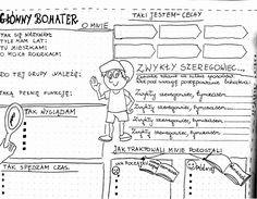 Wizualny miszmasz – karty pracy do wybranych utworów literackich – motylewdzienniku Hand Lettering, Bullet Journal, Notes, Education, Learning, School, Mental Map, Literatura, Report Cards